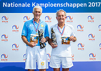 Etten-Leur, The Netherlands, August 26, 2017,  TC Etten, NVK, Winner men 75+ Ed Sasker (L) and runner up Niels Menko<br /> Photo: Tennisimages/Henk Koster