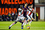 Giannelli Imbula of Rayo Vallecano (L) battles for the ball with Sergio Busquets Burgos of FC Barcelona during the La Liga 2018-19 match between Rayo Vallecano and FC Barcelona at Estadio de Vallecas, on November 03 2018 in Madrid, Spain. Photo by Diego Gouto / Power Sport Images