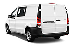 Car pictures of rear three quarter view of a 2019 Mercedes Benz Vito Base 4 Door Cargo Van angular rear