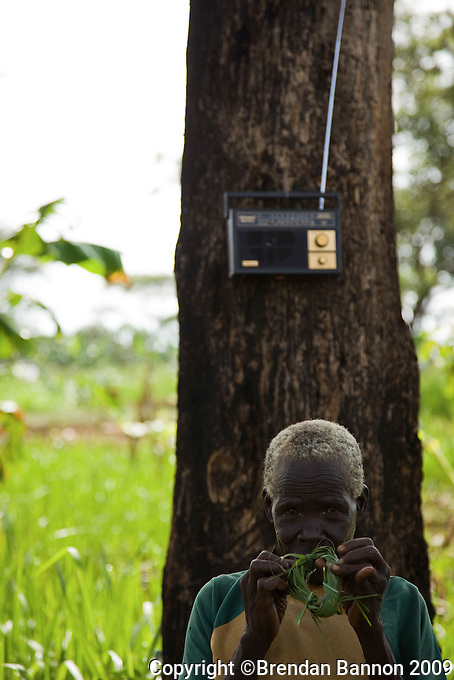 A woman and a radio in Nyori South Sudan.