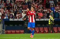 2nd October 2021; Estadio Wanda Metropolitano, Madrid, Spain; La Liga Football, Atletico de Madrid versus Futbol Club Barcelona; Antoine Griezmann applauds the fans after the victory