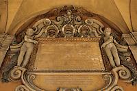 Europe/Italie/Emilie-Romagne/Bologne :Palais de l'Archiginnasio- Détail de la galerie XVI° siècle