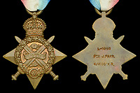 BNPS.co.uk (01202 558833)<br /> Pic: DixNoonanWebb/BNPS<br /> <br /> Pictured: The medal.<br /> <br /> A school has missed out in its bid to buy the medal of the first British soldier killed in World War One after it sold for a whooping £17,000.<br /> <br /> Private John Parr, was shot dead by a German patrol near Mons in Belgium on August 21, 1914.<br /> <br /> The 17-year-old had been deployed in a two-man team as a reconnaissance cyclist to scout out German positions.<br /> <br /> The pair were spotted by the German First Army and a firefight ensued, with Pte Parr heroically sacrificing himself so his comrade could escape unscathed and report back to the British lines.