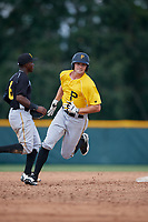 Pittsburgh Pirates Ryan Peurifoy (14) runs the bases during an Instructional League intrasquad black and gold game on September 28, 2017 at Pirate City in Bradenton, Florida.  (Mike Janes/Four Seam Images)