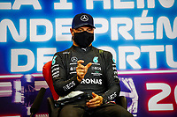 1st May 2021; Algarve International Circuit, in Portimao, Portugal; F1 Grand Prix of Portugal, qualification sessions;  press conference,  pole sitter BOTTAS Valtteri fin, Mercedes AMG F1 GP W12 E Performance