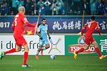 Jiangsu FC Forward Alex Teixeira (L) in action during the AFC Champions League 2017 Group H match between Jiangsu FC (CHN) vs Adelaide United (AUS) at the Nanjing Olympics Sports Center on 01 March 2017 in Nanjing, China. Photo by Marcio Rodrigo Machado / Power Sport Images