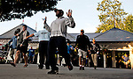August 29, 2015 : The rush to get prime real estate for race viewing begins on Travers Stakes Day at Saratoga Race Course in Saratoga Springs, NY. Scott Serio/ESW/CSM