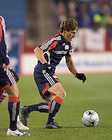 New England Revolution midfielder Wells Thompson (7) controls ball at midfield. The New England Revolution defeated FC Dallas, 2-1, at Gillette Stadium on April 4, 2009. Photo by Andrew Katsampes /isiphotos.com