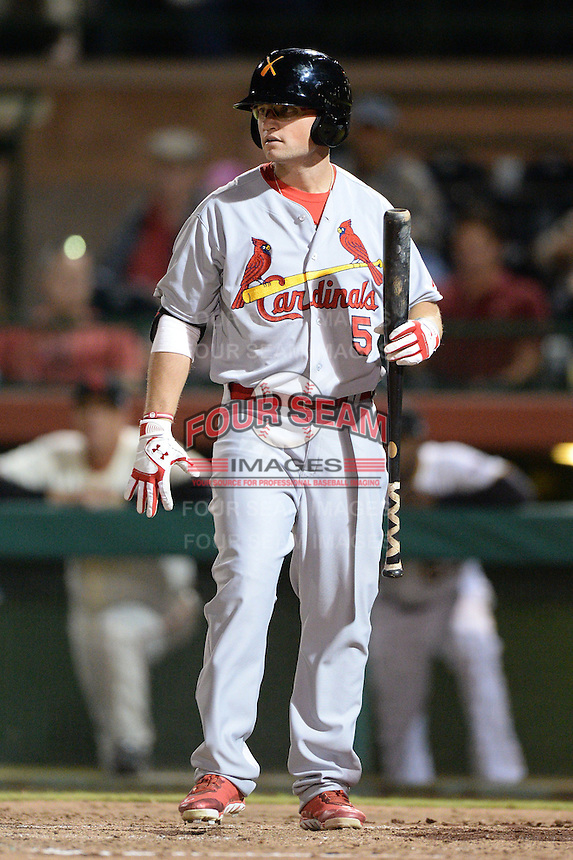 Salt River Rafters outfielder James Ramsey (5), of the St. Louis Cardinals organization, during an Arizona Fall League game against the Scottsdale Scorpions on October 9, 2013 at Scottsdale Stadium in Scottsdale, Arizona.  Salt River defeated Scottsdale 12-2.  (Mike Janes/Four Seam Images)