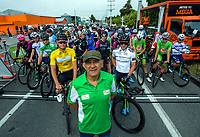 Tour director Jorge Sandoval before the start of stage five of the NZ Cycle Classic UCI Oceania Tour (Masterton Circuit) in Wairarapa, New Zealand on Sunday, 19 January 2020. Photo: Dave Lintott / lintottphoto.co.nz