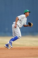 Lexington Legends shortstop Raul Mondesi #2 during a game against the  Asheville Tourists at McCormick Field on April 23, 2013 in Asheville, North Carolina. The Tourists won the game 4-3. (Tony Farlow/Four Seam Images).