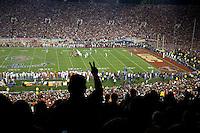 Rose Bowl, USC vs Texas.