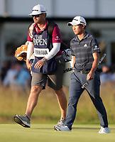 17th July 2021; Royal St Georges Golf Club, Sandwich, Kent, England; The Open Championship Golf, Day Three; Collin Morikawa (USA) walks onto the 18th green