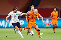 AMSTERDAM, 07-09-2020, JohanCruyff Stadium, season 2020 / 2021 . Nations Leaque game between Netherlands and Italy. Italian player Manuel Locatelli and Netherlands player Donny van de Beek<br /> Amsterdam 07-09-2020 <br /> Football Calcio Uefa Nations League <br /> Olanda - Italia / Netherlands - Italy <br /> Photo Stanley Gontha / Pro Shots / Insidefoto <br /> ITALY ONLY