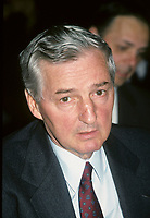 Montreal (QC) CANADA, circa 1988 File Photo -<br /> <br /> Paul Desmarais , Power Corporation<br /> <br /> <br /> <br /> <br /> Paul Desmarais is the son of a lawyer, Jean-Noel Desmarais, and LÈbÈa Laforest. He grew up in a prosperous family. He studied at the University of Ottawa where he obtained a B.A. in Commerce. When he finished university, he returned to Sudbury where, in 1951, he took control of a bus company. In 1959, he created the Transportation Management Corporation Limited; though this, he acquired Provincial Transport Ltd in 1960, and then obtained effective control of Gelco Entreprises Ltd in 1962. The following year, he bought the Imperial Life Assurance Company of Canada. Two years later, it was the turn of the Corporations des valeurs trans-Canada, his first conglomerate.<br /> <br /> In 1967, Trans-Canada created Les Journaux Trans-Canada LtÈe, a press company that acquired the great Montreal daily, La Presse. In 1968, Mr. Desmarais took control of the Power Corporation of Canada. Today, the Power Corporation consists of Gesca LtÈe, which publishes La Presse and other dailies and weeklies, and Power Financial Corporation, which owns the Great-West Life Assurance Company, London Life Assurance Company, Investors Group Inc. and Pargesa Holding S.A., an international holding company headquartered in Geneva.<br /> <br /> Paul Desmarais is Chairman of the Executive Committee of the Power Corporation of Canada. He is also Chairman of the Board and Deputy Director of Pargesa Holding S.A. (Switzerland). He is a director of the following companies: CLT-UFA (Luxembourg), the Power Financial Corporation, Power Broadcasting Inc.; Electrafina S.A. (Belgium), the London Assurance Group Inc., Group Investors Inc., London Life Assurance Company, Pargesa Holding S.A. (Switzerland), the Power Corporation of Canada, La Presse LtÈe, the Telegraph Group Limited (England) and Total Pina (France). He is also a member of the international advisory committee of the Barri