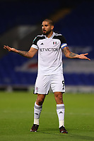 16th September 2020; Portman Road, Ipswich, Suffolk, England, English Football League Cup, Carabao Cup, Ipswich Town versus Fulham; Aleksandar Mitrovic of Fulham questions a decision by the referee