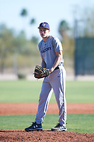 Kane Kiaunis (50), from North Plains, Oregon, while playing for the Tigers during the Under Armour Baseball Factory Recruiting Classic at Red Mountain Baseball Complex on December 28, 2017 in Mesa, Arizona. (Zachary Lucy/Four Seam Images)