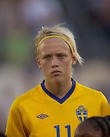 Sweden forward Linnea Liljegard (11). The US Women's national team beat Sweden, 3-0, at Rentschler Field on July 17, 2010.