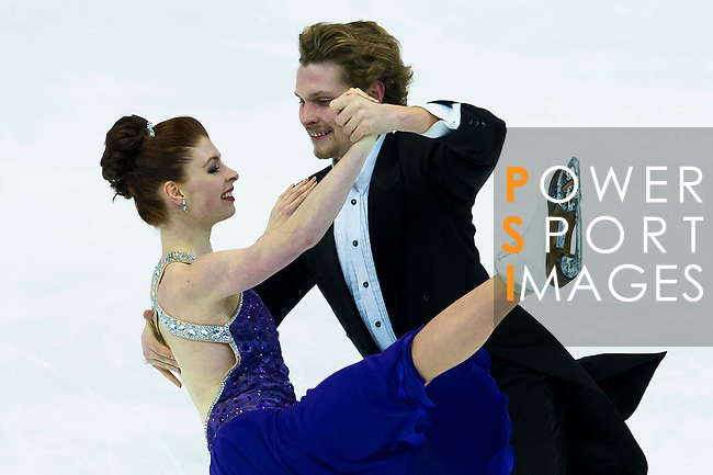 TAIPEI, TAIWAN - JANUARY 22:  Nicole Orford and Thomas Wiliams of Canada compete in the Ice Dance Short Dance event during the Four Continents Figure Skating Championships on January 22, 2014 in Taipei, Taiwan.  Photo by Victor Fraile / Power Sport Images *** Local Caption *** Nicole Orford; Thomas Wiliams