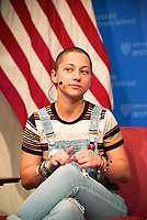 Emma Gonzalez # Never Again Parkland Students from Marjory Stoneman Douglas High School speaking on changing gun policies,student activism and politics at the Institute of Politics at Harvard, Cambridge MA 3.20.18