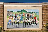 Dominikanische Republik, Wandgemälde (Murales) in Bani an der Südküste
