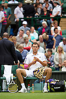 28-06-13, England, London,  AELTC, Wimbledon, Tennis, Wimbledon 2013, Day five, Jerzy Janowicz (POL)<br /> <br /> <br /> <br /> Photo: Henk Koster