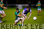 A tussle for possession between John Mitchels Jordan Bowler and Darragh McElligott of Kerins O'Rahillys in the Tralee Town Board SFC semi-final.