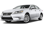 Low aggressive front three quarter view of a .2013 Lexus ES 350