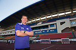 St Johnstone v FC Minsk...31.07.13  Europa League Qualifier<br /> Manager Tommy Wright pictured in the Neman Stadium in Grodno in Belarus where saints will play FC Minsk tomorrow night.<br /> Picture by Graeme Hart.<br /> Copyright Perthshire Picture Agency<br /> Tel: 01738 623350  Mobile: 07990 594431
