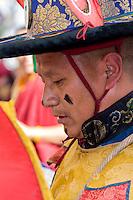 Nepal, Kathmandu, Swayambhunath.  Senior Tibetan Buddhist Monk.