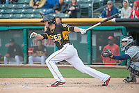 Grant Green (7) of the Salt Lake Bees at bat against the Tacoma Rainiers in Pacific Coast League action at Smith's Ballpark on May 7, 2015 in Salt Lake City, Utah.  (Stephen Smith/Four Seam Images)