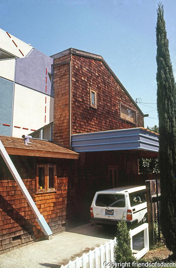 San Diego: Dalrymple House, Randolph St., Mission Hills. Architect Randy Dalrymple. Deconstructivist style. Built 1985.