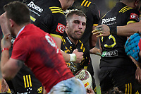 Hurricanes' Callum Gibbins in action during the New Zealand Lions Series - Hurricanes v British and Irish Lions at Westpac Stadium, Wellington, New Zealand on Tuesday 27 June 2017.<br /> Photo by Masanori Udagawa<br /> www.photowellington.photoshelter.com.