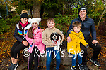 The O'Donoghue family from Tralee enjoying a stroll in the Tralee town park on Sunday afternoon. L to r: Carol Ann, Faye, Oran, Coleman and Kieran with Chester the dog.