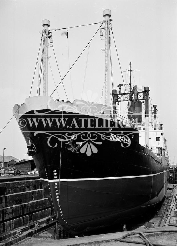 April 1963.  Scheepswerf Mercantile Marine Engineering in Antwerpen.