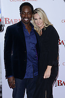 Harold Perrineau + wife Brittany @ the premiere of 'Barber Shop The Next Cut' held @ the Chinese theatre.<br /> April 6, 2016