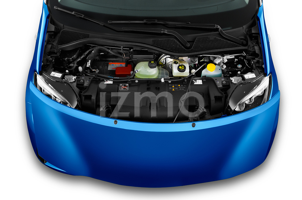 Car Stock 2020 Smart EQ-forfour Comfort-Plus 5 Door Hatchback Engine  high angle detail view