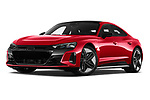 Stock pictures of low aggressive front three quarter view of 2021 Audi e-tron-GT RS 4 Door Sedan Low Aggressive
