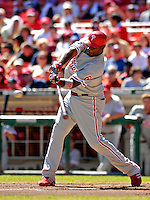 23 September 2007: Philadelphia Phillies first baseman Ryan Howard in action against the Washington Nationals at Robert F. Kennedy Memorial Stadium in Washington, DC. The Nationals defeated the visiting Phillies 5-3 to close out the 2007 home season and the final game in baseball history at RFK Stadium. The Nationals will open up the 2008 season at Nationals Park, their new facility currently under construction.. .Mandatory Photo Credit: Ed Wolfstein Photo