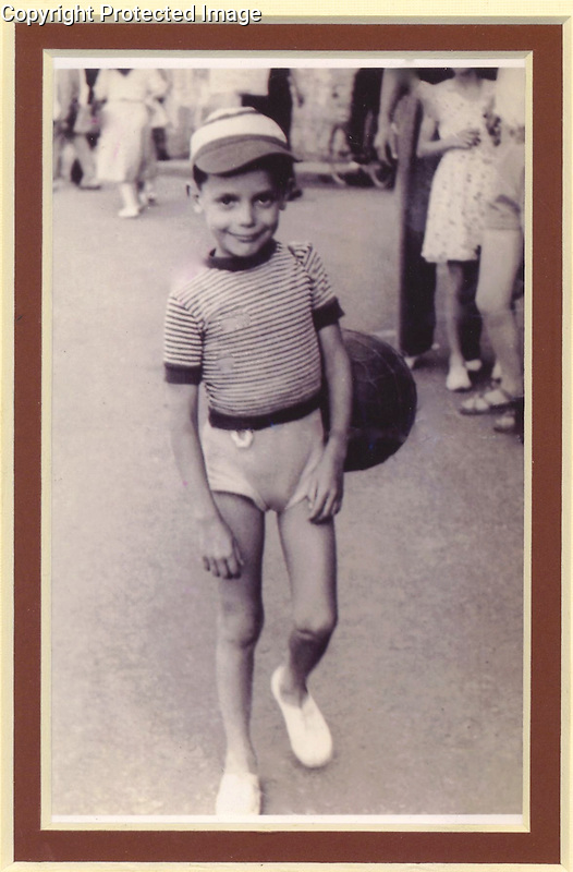 Young Guy Buffet in Paris at Age 5 in 1948.