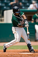 Greensboro shortstop Daniel Garcia (17) fouls off a pitch versus Rome at First Horizon Park in Greensboro, NC, Wednesday, August 15, 2007.