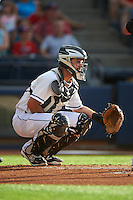 Akron RubberDucks catcher Jeremy Lucas (12) during a game against the Richmond Flying Squirrels on July 26, 2016 at Canal Park in Akron, Ohio .  Richmond defeated Akron 10-4.  (Mike Janes/Four Seam Images)