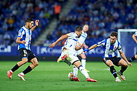 22nd September 2021: RCDE Stadium, Barcelona, Spain: La Liga Football, Espanyol versus Atletico Madrid; <br /> Luis Rioja of Deportivo Alaves pulls the ball back