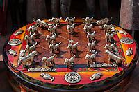 Nepal, Kathmandu.  Bagh Chal, Nepal's National Board Game.