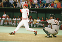 Cincinnati Reds Pete Rose(14) in action during a game from his career with the Cincinnati Reds at Riverfront Stadium in Cincinnati, Ohio. Pete Rose played for 24 years with with 3 different teams, was a 17-time All-Star, 1-time National League MVP in 1973.(SportPics)