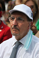 Italian center-right senator Ignazio La Russa during the demonstration of the center-right parties at Piazza del Popolo, Together for the Italy of work. Rome (Italy), July 4th 2020<br /> Foto Insidefoto