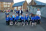Presentation NS junior infants on Monday, l to r: Debra O'Leary, John Hickey (Principal) and Keelin Deenihan.