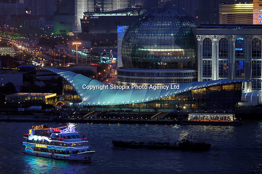 A night view of Pudong from the opposite bank of the Huangpu river. .