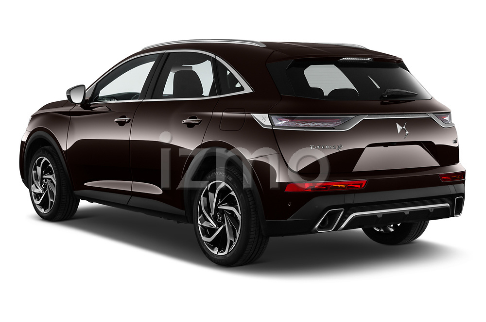 Car pictures of rear three quarter view of 2021 Ds DS-7-Crossback Rivoli 5 Door SUV Angular Rear