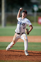 Noah Takacs (32) during the WWBA World Championship at the Roger Dean Complex on October 13, 2019 in Jupiter, Florida.  Noah Takacs attends  High School in  and is committed to .  (Mike Janes/Four Seam Images)